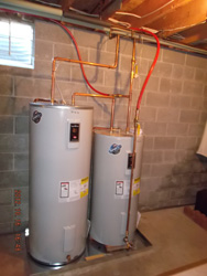 Geo-thermal water heater installation company