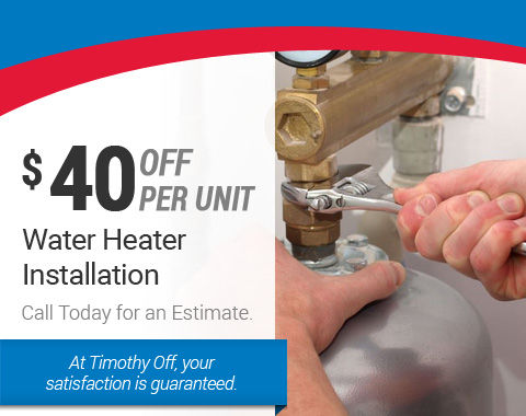 $40 off Water Heater Installation