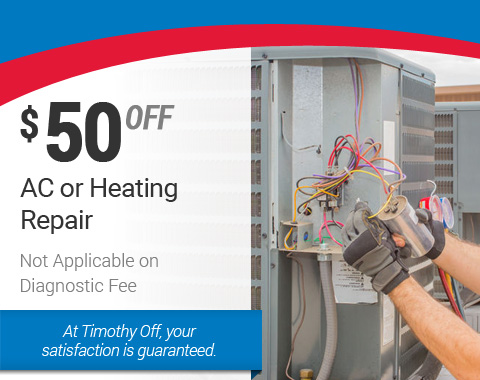 $50 Off AC or Heating Repair – HVAC Specials
