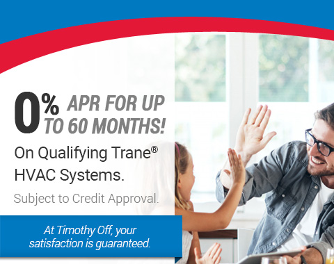 0% APR For 60 Months On Qualifying Trane® HVAC Systems