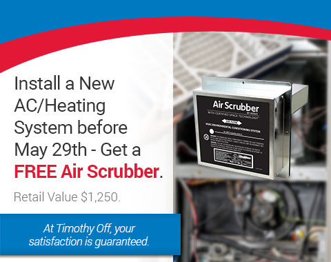 Install a New AC/Heating System before May 29th - Get a FREE Air Scrubber
