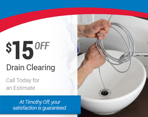 $15 off Drain Clearing - HVAC Specials