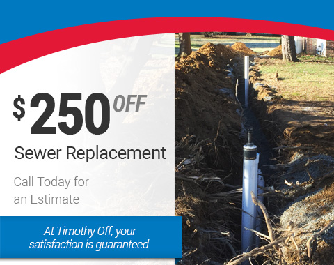 $250 Off Sewer Replacement Service - HVAC Specials