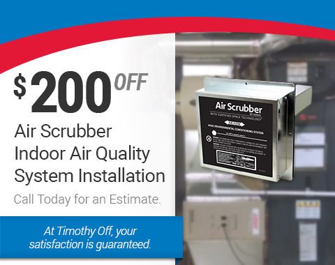 $200 Off Air Scrubber Indoor Air Quality System Installation
