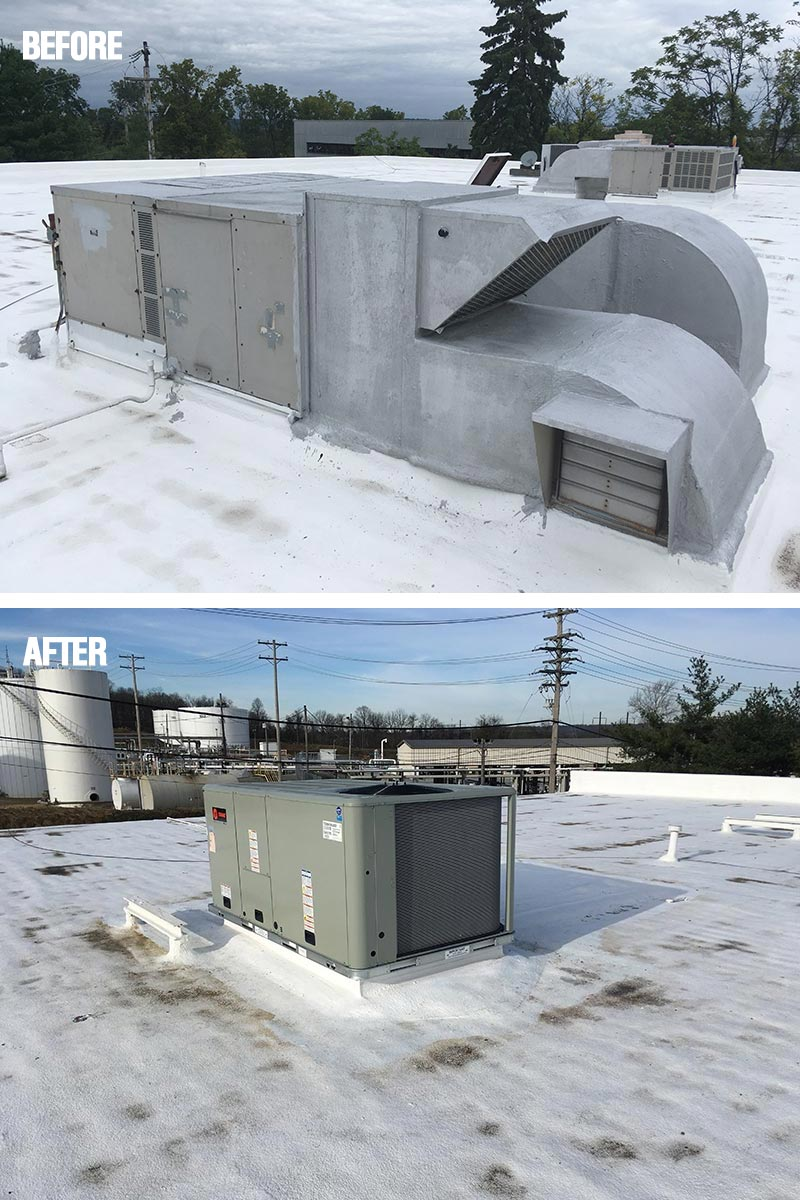 New Commercial HVAC Unit with Sealed Roof