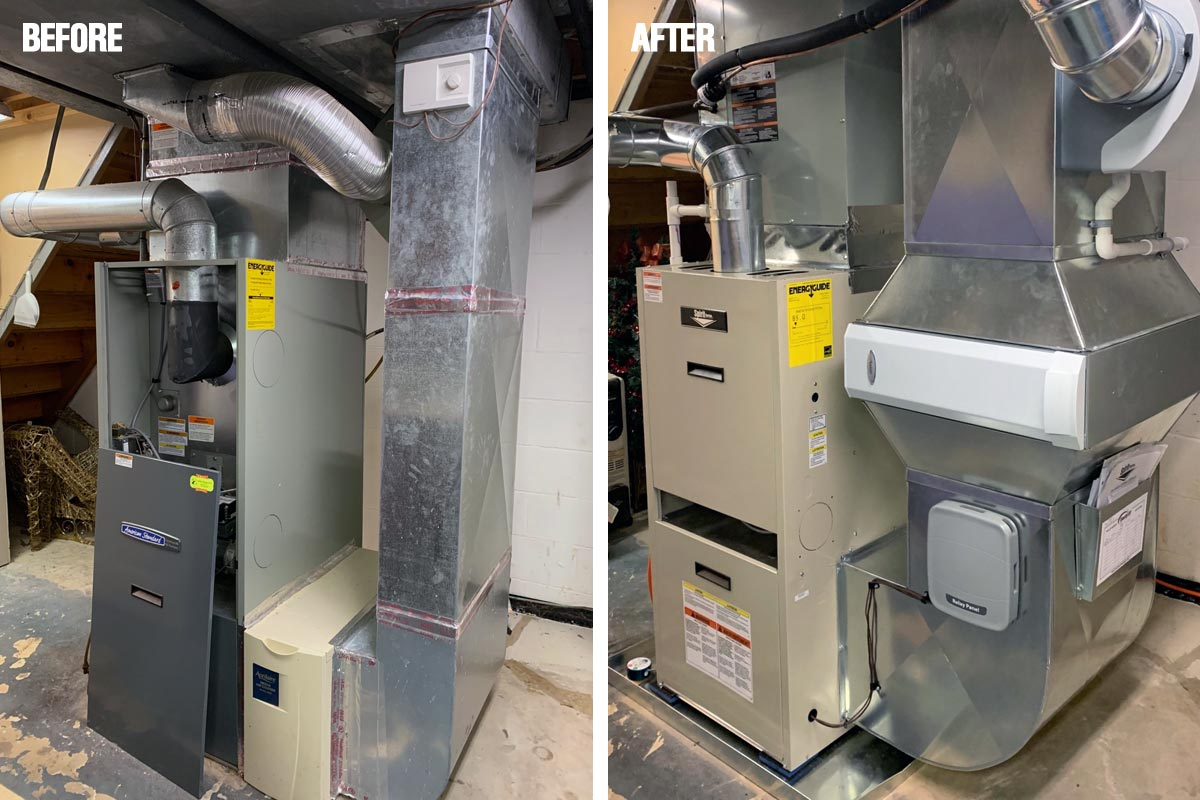 New Oil Furnace and A/C System