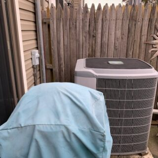 Downingtown Heat Pump Replacement Outside Before