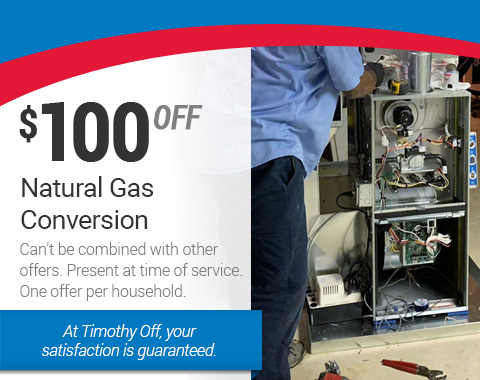 $100 Off Natural Gas Conversion